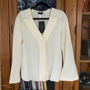 NWT Armani Ivory Silk blouse